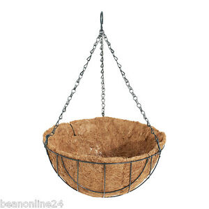 30cm-Hanging-Basket-Garden-Planter-with-Liner-Hang-Chain