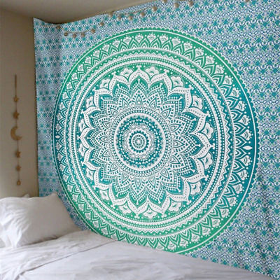 Large Mandala Indian Tapestry Wall Hanging Bohemian Beach Towel Blanket 4 (Large Wall Hanging)