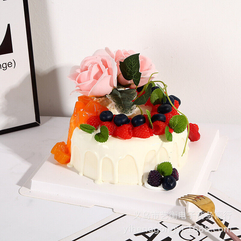 Artificial Fruit Cakes Simulation Model Bakery Room Photography Decoration Party