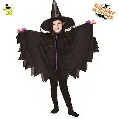 Devil For Halloween Kids (Halloween Bat Costumes Girls Black Devil Ghost Dress Up Suits for)