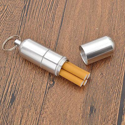 Portable Cigarette Case Box Holder Keychain Waterproof Aluminium Alloy Men Gift