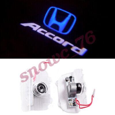 2X Blue Logo Car LED Door Light Ghost Laser Projector For Honda Accord 2013-2021