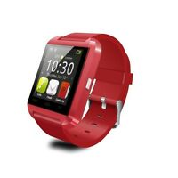 NEW RED SMART WATCH BLUETOOTH FOR IPHONE IOS SAMSUNG ANDROID U8