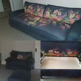 4 Seater Sofa, Cuddle Chair & Footstool JOULES