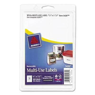Avery Removable Multi-use Labels 34 X 1 12 White 504pack 072782054304