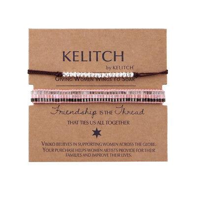 2 Pcs Boho Metal Beads Chain Leather Handmade Adjustable Friendship Bracelets](Beaded Friendship Bracelets)