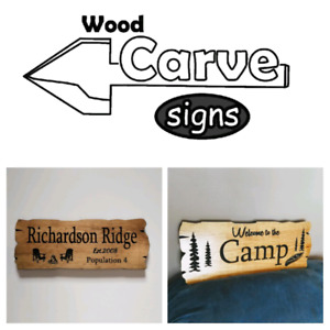 Personalized custom carved wood signs