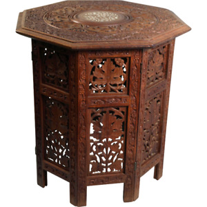 Aglo Indian Side Table w/Bone Inlay