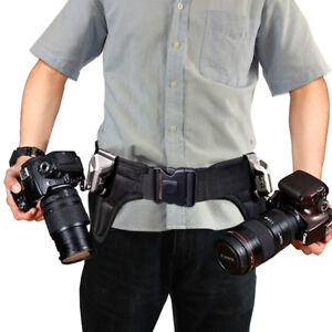 Camera holster for two cameras