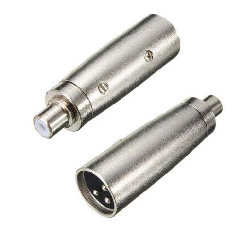 XLR Female Jack to RCA Mono Female Socket 3Pin Mic//Amp Audio Adapter Connector
