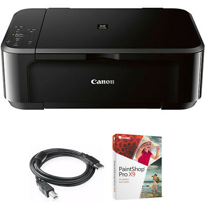 Canon Pixma Wireless Inkjet All In One Multifunction Printer W Paint Shop Bundle