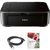 Canon Pixma Wireless Inkjet All-In-One Multifunction Printer w/Paint Shop Bundle