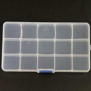 New-15-Slots-Adjustable-Storage-Box-Plastic-Case-Organizer-Jewelry-Beads-Craft