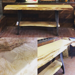 Maple live edge wood bar