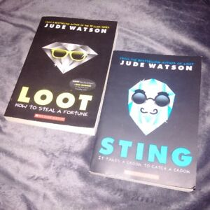 Lot of 2 Series of Paperback Books Loot & Sting by Scholastic
