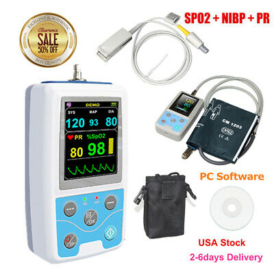 Contec Brand New Portable Vital Sign Patient Monitor Nibpspo2pr Pc Software