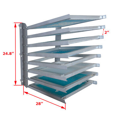 Screen Printing Equipment Aluminium Wood Screen Frame Storage Rack Free Ship
