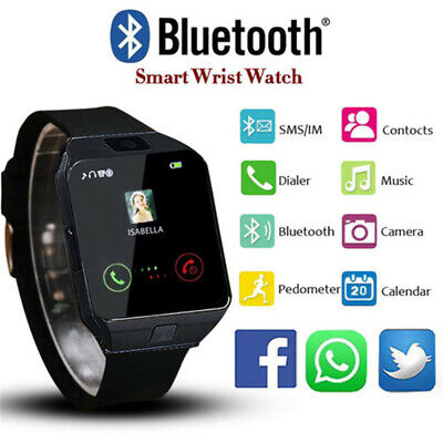 Bluetooth Smart Watch w/ Camera Waterproof Phone LG HTC Huawei Android Samsung
