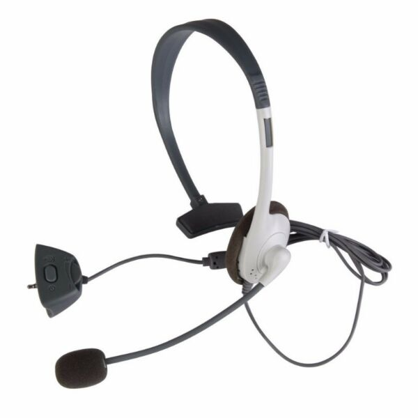 New White Headset with Microphone For Xbox360 Wireless Controller Live Earphone