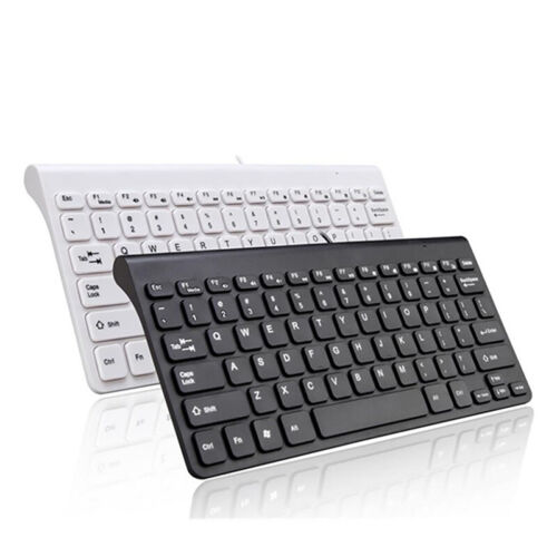 Mini Slim 78 Key USB Wired Compact Thin Keyboard for Desktop