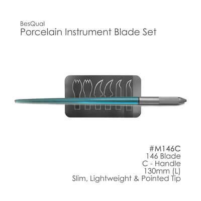 Besqual Porcelain Instrument Blade Sets -3 Types 6 Blades- W Handle Dental Lab