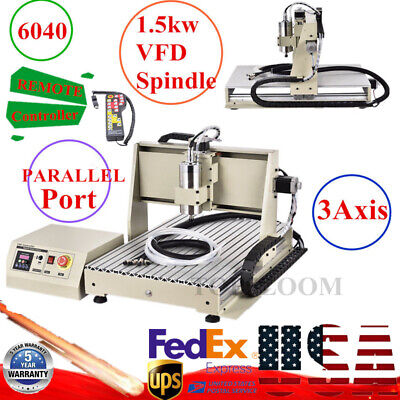 Alumnium Cnc 6040 3axis 1.5kw Engraving Machine For Metal Copper Steel Brass Rc