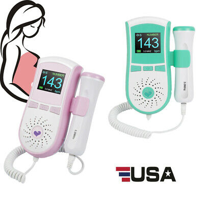 Ups Fetal Doppler Prenatal Baby Heart Monitor With Gel Color Lcd Display 3.0mhz