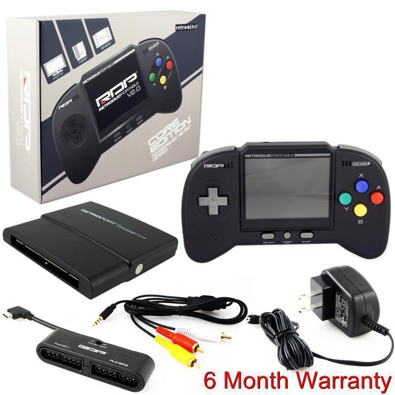 как выглядит Retro Duo Portable RDP Nintendo SNES NES Handheld Console V2.0 Core Ed. Black фото