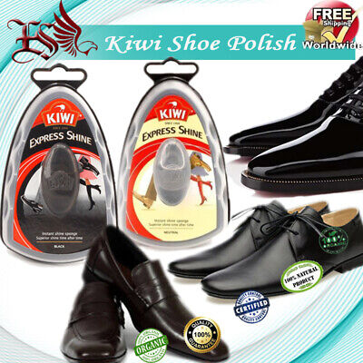 Kiwi Express Shine Shoe Polish Instant Shine Sponge 7ml Set of Black & Neutral Kiwi Express Shine Sponges