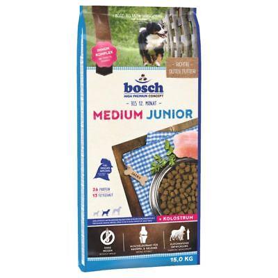 15kg Bosch Junior Medium Hundefutter Welpen mittelgroße Rassen