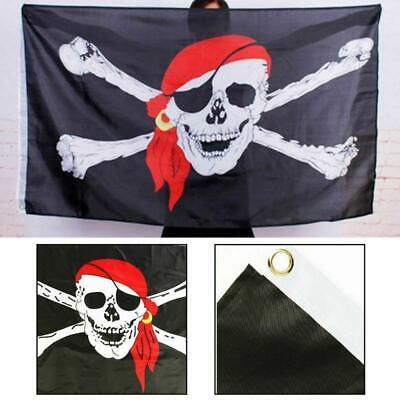 Large Pirate Bandana Flag Boats Treehouse Skull Crossbones Jolly Roger  5 x 3FT