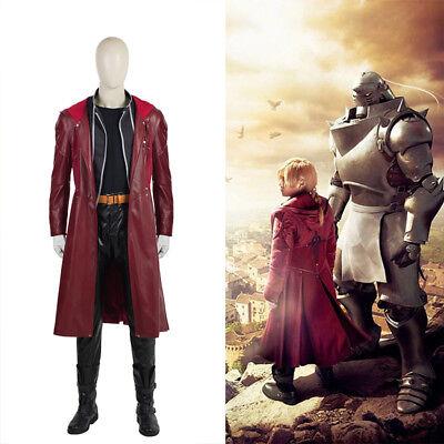 Fullmetal Alchemist Edward Elric Halloween Cosplay Kostüm Costume (Fullmetal Alchemist Edward Kostüm)