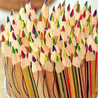 10 stücke Regenbogen Bleistift 4 in 1 Farbige Zeichnung Malerei Bleistifte Set
