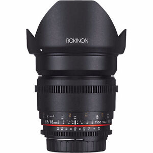 Rokinon 16mm T2.2 and Bower 14mm for Canon EF
