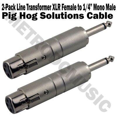 2-Pack Pig Hog Line Transformer XLR Female to 1/4
