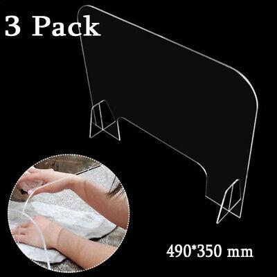 Schutzwand Glasklar Schreibtisch-Trennwand Plexiglas Sichern Shield Spuckschutz