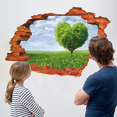 US 3D Wall Sticker Removable Love Tree Mural Decals Vinyl Art Living Room Decor