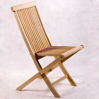 WOODEN FOLDING 6 CHAIRS-MINT MINT CONDITION