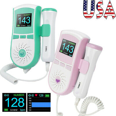 Fda 2 Color Baby Heart Monitor Fetal Doppler Self-check High Accuracy Ce
