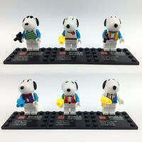 lot of 6 Snoopy minifigures