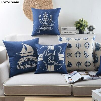 Cheap Nautical Sea Pillow Cover Coastal Decorative Pillow  Sea Cushion Cover  (Cheap Pillow)