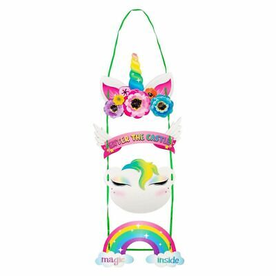 2Pack Unicorn Door Decoration Welcome Sign Hanger for Birthday Party Baby Shower