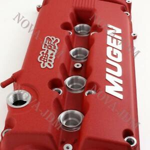 MUGEN Racing Rocker Valve Cover for Honda Civic B16 B17 B18 VTEC B18C GSR - Red