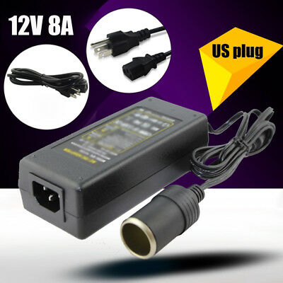New Power Regulator Converter 12V 8A AC/DC Adapter Reservoir Car Cigarette Lighter