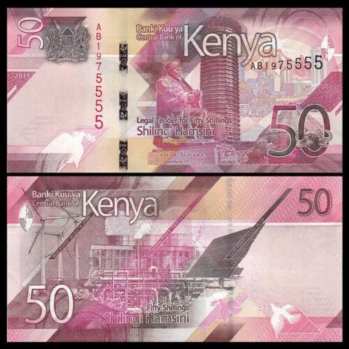 Kenya 50 Shillings, 2019, Polymer Banknote NEW, Crisp & Uncirculated