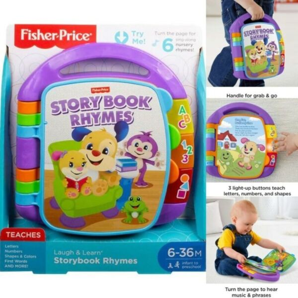BNIB: MATTEL Fisher Price Laugh and Learn Storybook Rhymes Book
