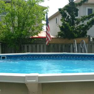 21 ft round above ground swimming pool