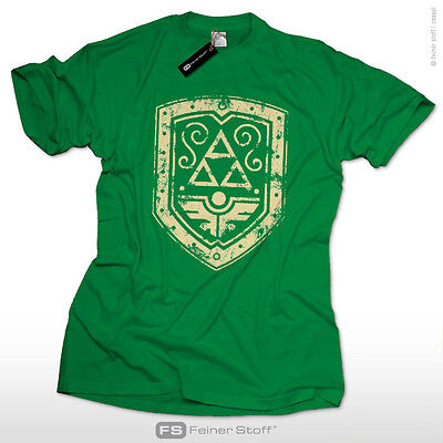 Ancient Shield T-Shirt for super retro gamers, triforce zelda fan cosplay mario