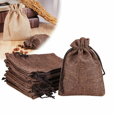 Small Drawstring Pouch (20 Small Burlap Jute Hessian Wedding Favor Bags Drawstring Sack Pouch)