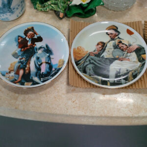 Norman Rockwell Plate Set(4pcs) Only $20
